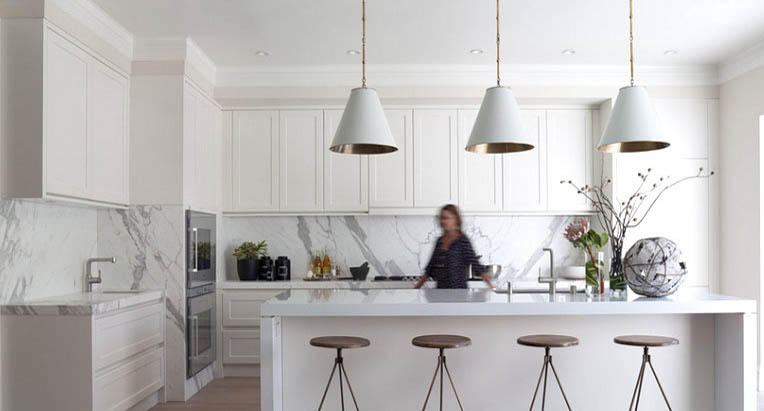 white kitchen island with granite top buffet cabinets choosing your worktop edge detail - surrey marble &