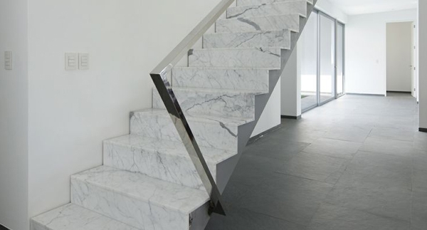 Converting To Stone Stairs Marble Granite Limestone Smg | Black Granite Staircase Designs | India Staircase | Contemporary | Italian Marble Step | Double Staircase | Wood Girl