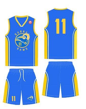 """THE RAMS"""" Surrey Rams National League Away Uniform (Blue) 2c5d12d6e"""