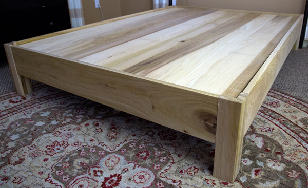 Cascade Panel Wood Bed  Dovetail Drawers  GlideUnder
