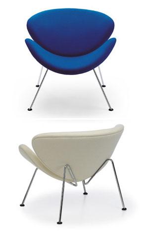 orange slice chair indoor hanging egg artifort surrounding com