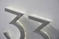 Luxello Modern Neutra House Numbers LED Backlit ...