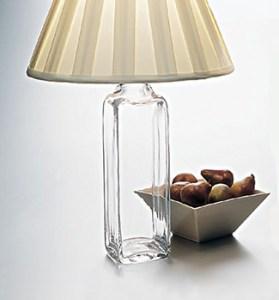 Glass bottle desk lamp