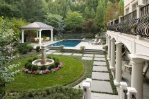 Great Falls Landscape Design In French Country Style