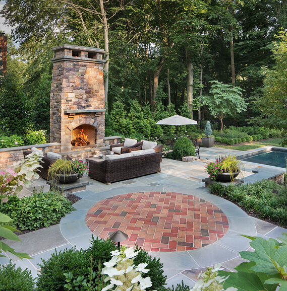 patio fire pit or fireplace