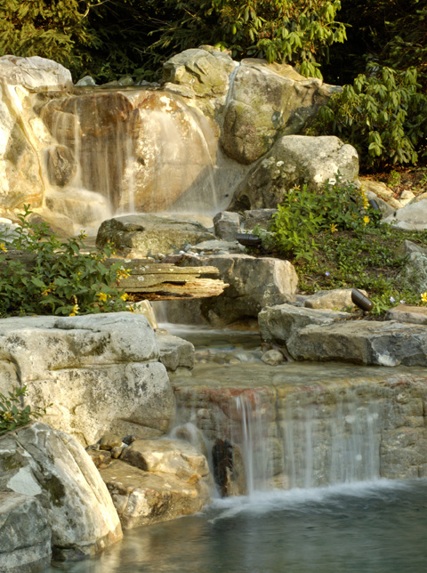 Garden Waterfalls  Design Styles  Surrounds Landscape Architecture