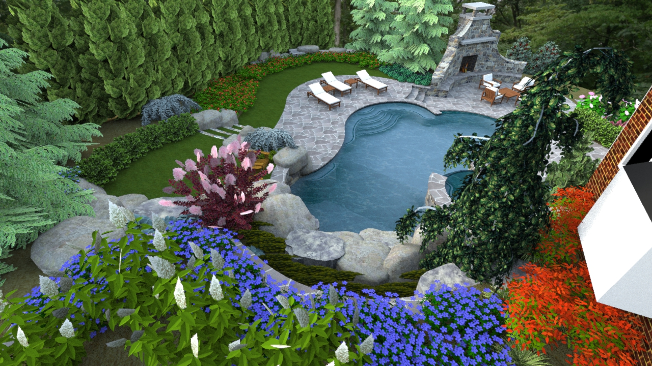 A Right Sized Swimming Pool Design In Herndon Virginia
