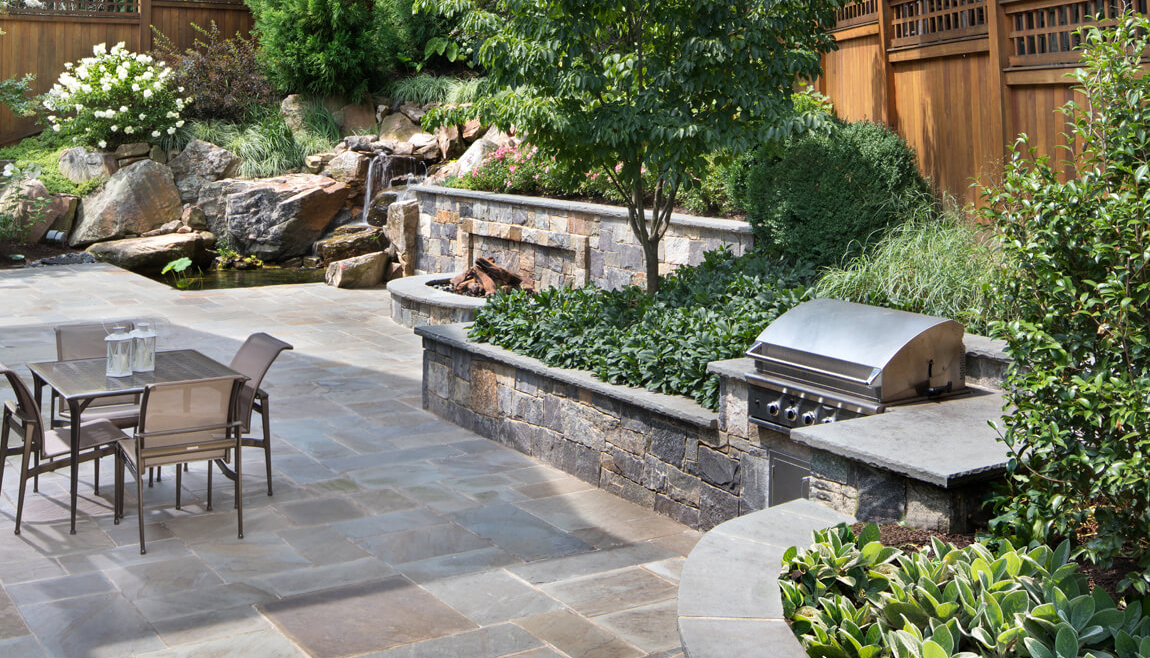 outside kitchen kidkraft grand espresso corner everything you need to know plan your surrounds grill station built into retaining wall