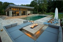 Vienna Virginia Pool House Design Surrounds Landscape