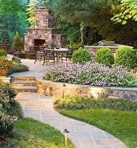 McLean Virginia Landscape Patio Design, Retaining Walls