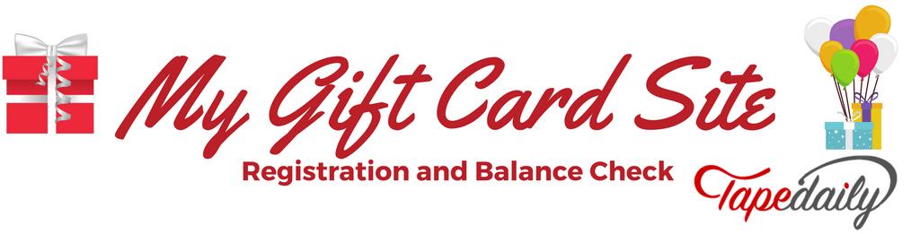 mygiftcardsite card registration gift