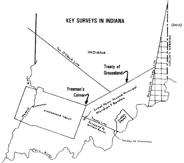 Greenville & Grouseland Treaty Lines