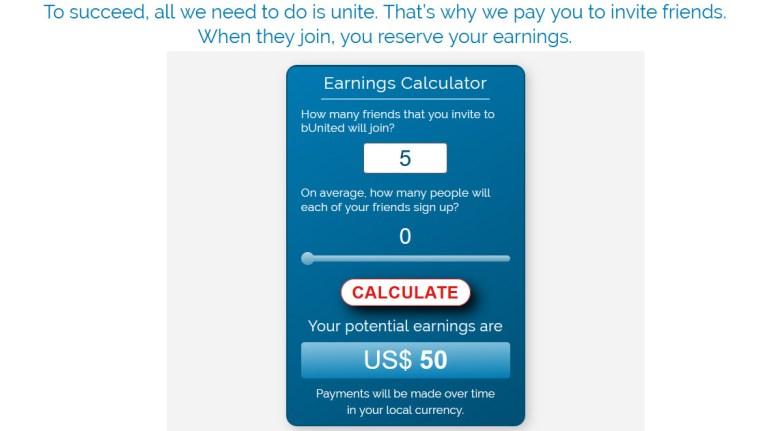 bunited - calcolatore dei guadagni