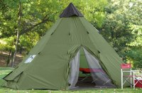 Large Camping Tent 6 Person Family Teepee Outdoor Shelter ...
