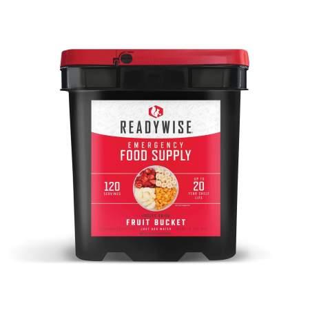wise food bucket, freeze dried fruit, 120 servings