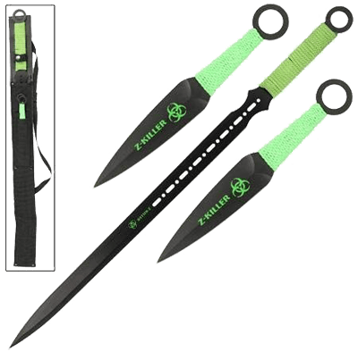 Zombie Killer Ninja Sword Throwing Knife Set