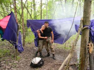Parachute hammocks, Louisiana, USA, Discovery Channel