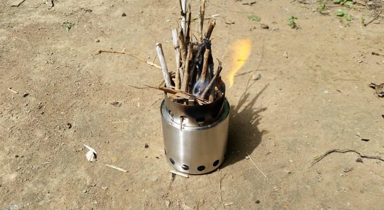 Solo Stove Burning