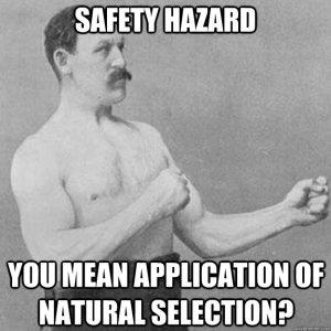 Safety Hazard  Big Survival Knives