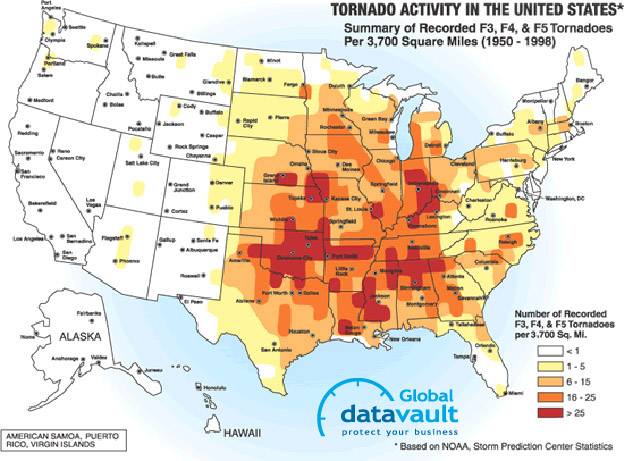 Natural Disaster Threat Maps USA Target List - Us map potential natural disasters