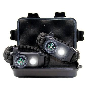 Überlebensarmband 6-in-1 Paracord Survival Armband mit Multitool Taschenlampe licht Signalpfeife Feuerstahl Kompass
