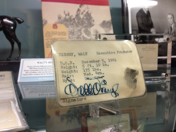 Walt Disney's ID Card