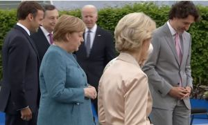 VIDEO: Joe Biden Caught Looking Tired and Listless, Wandering Alone, Following Crowd at G7 Without Nurse Jill — HIDDEN FROM YOU BY FAKE NEWS