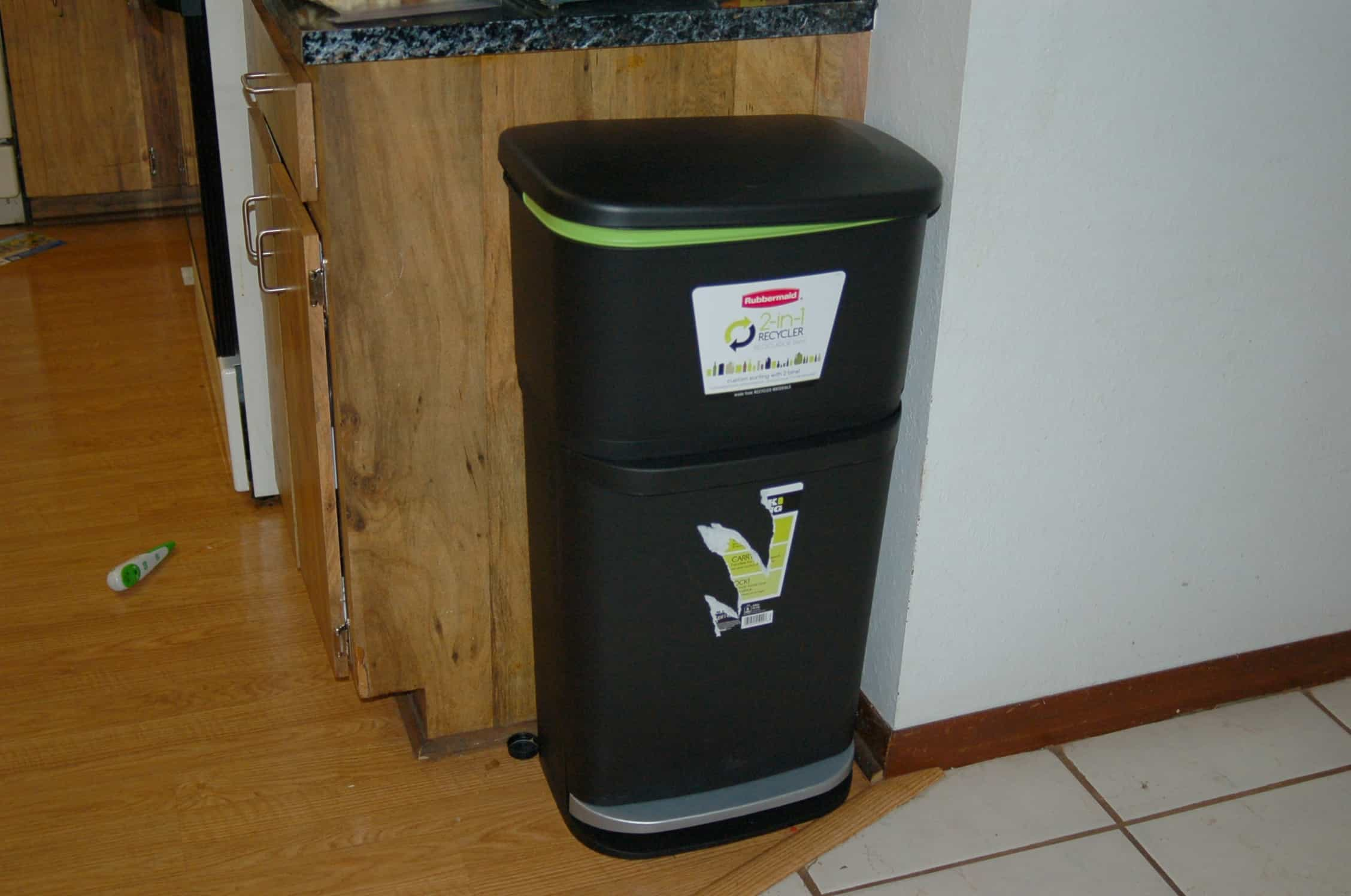 30 gallon kitchen trash can lace curtains giveaway rubbermaid 2 in 1 recycler surviving a teacher