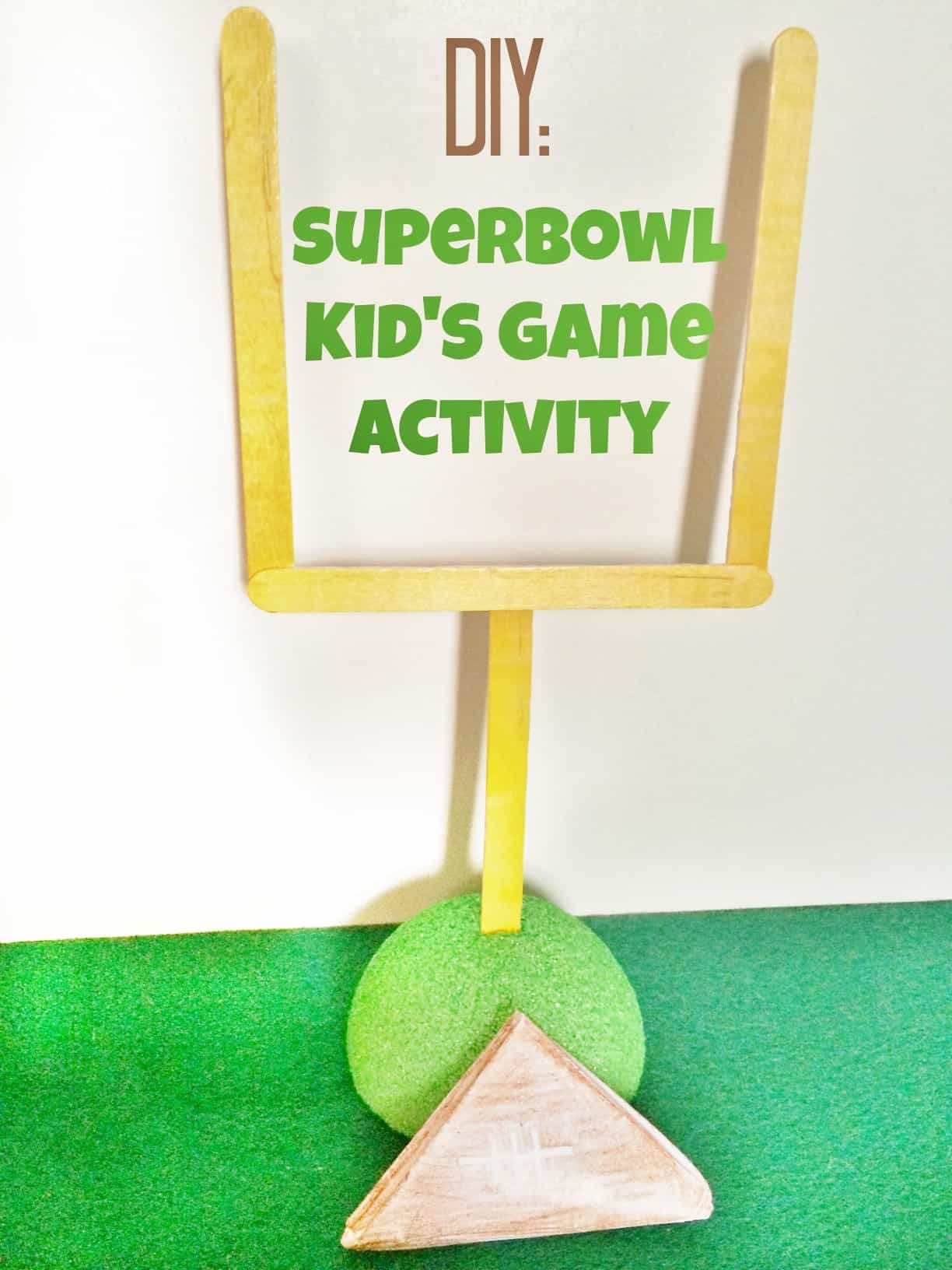Diy Superbowl Kids Paper Football Game Activity