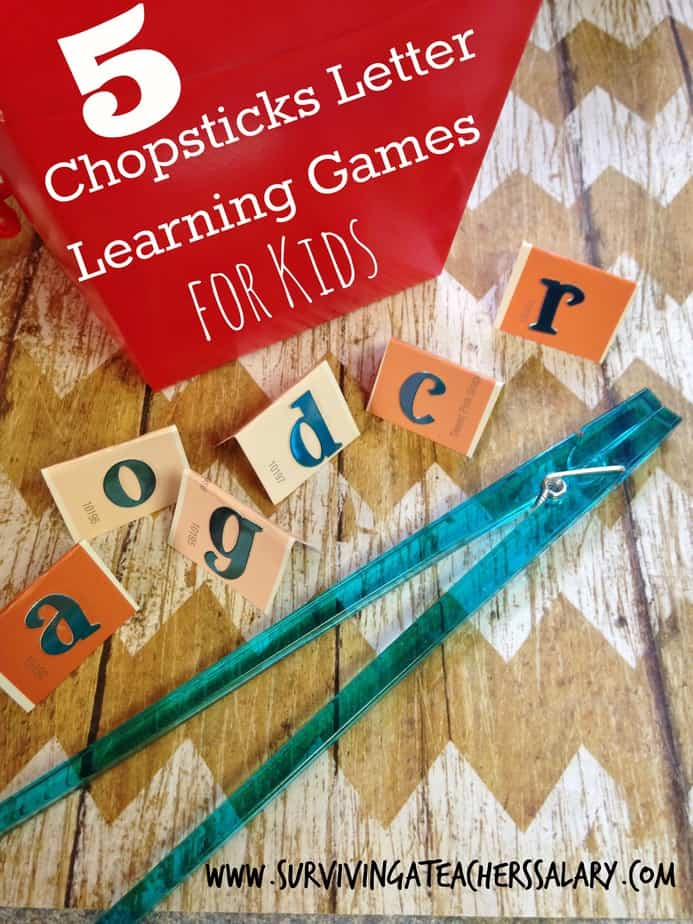 5 Chopsticks Letter Learning Games For Kids Fine Motor