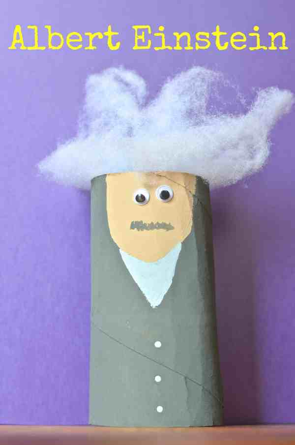 Albert Einstein Toilet Paper Tube Kids Craft - Surviving
