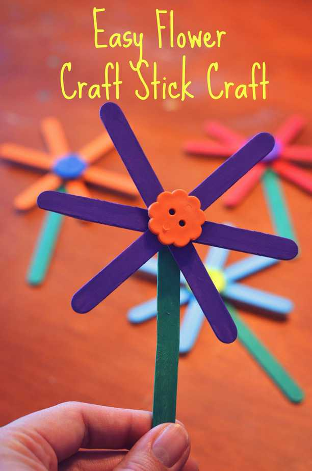 Easy Flower Craft Stick Craft For Kids