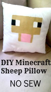Make Your Own DIY Minecraft Pillows NO SEW Tutorial