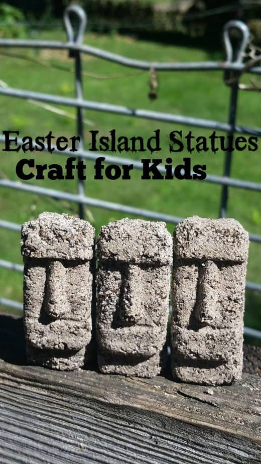 How to Make Easter Island Statues History Craft for Kids
