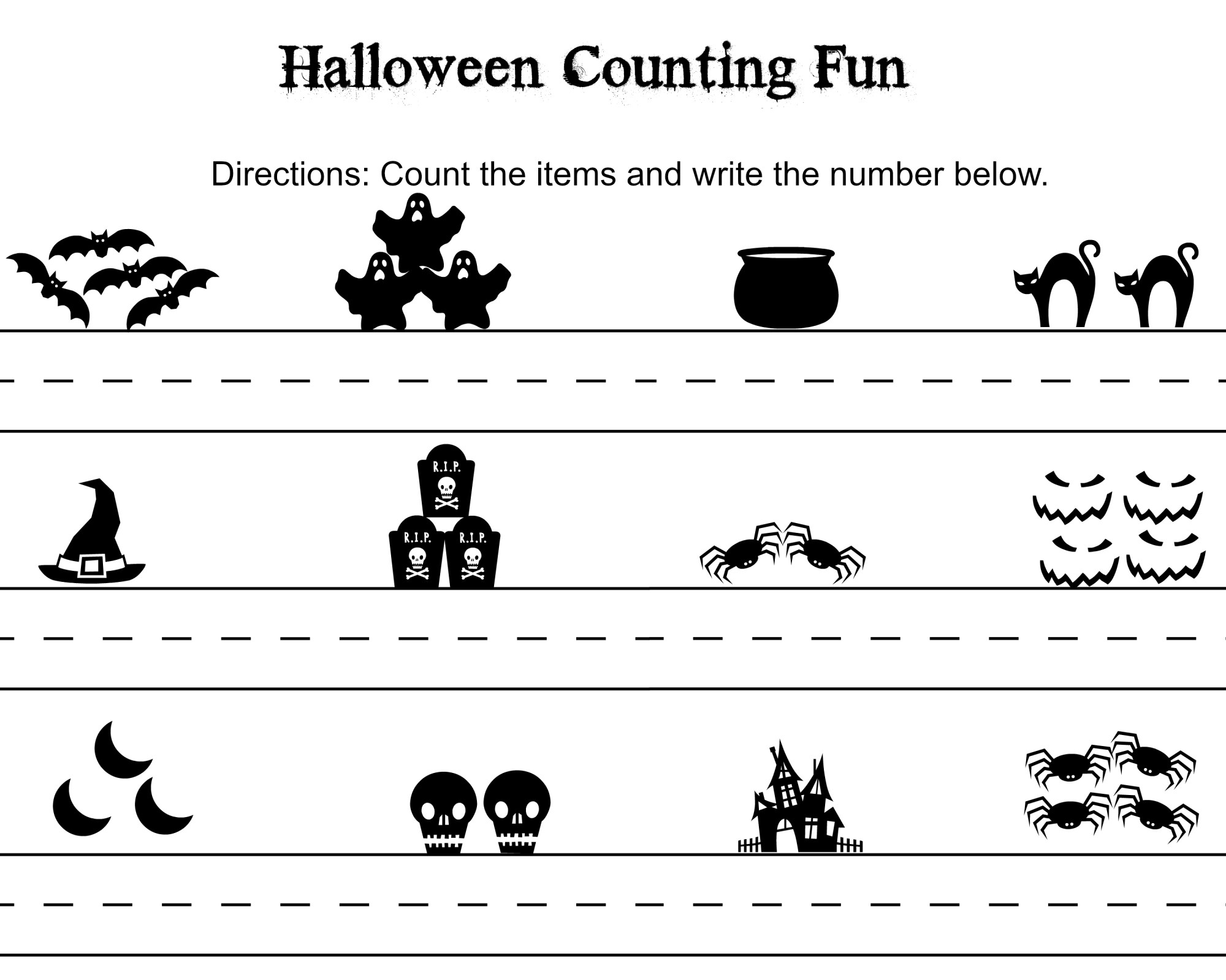hight resolution of FREE Halloween Word Search \u0026 Counting Printables