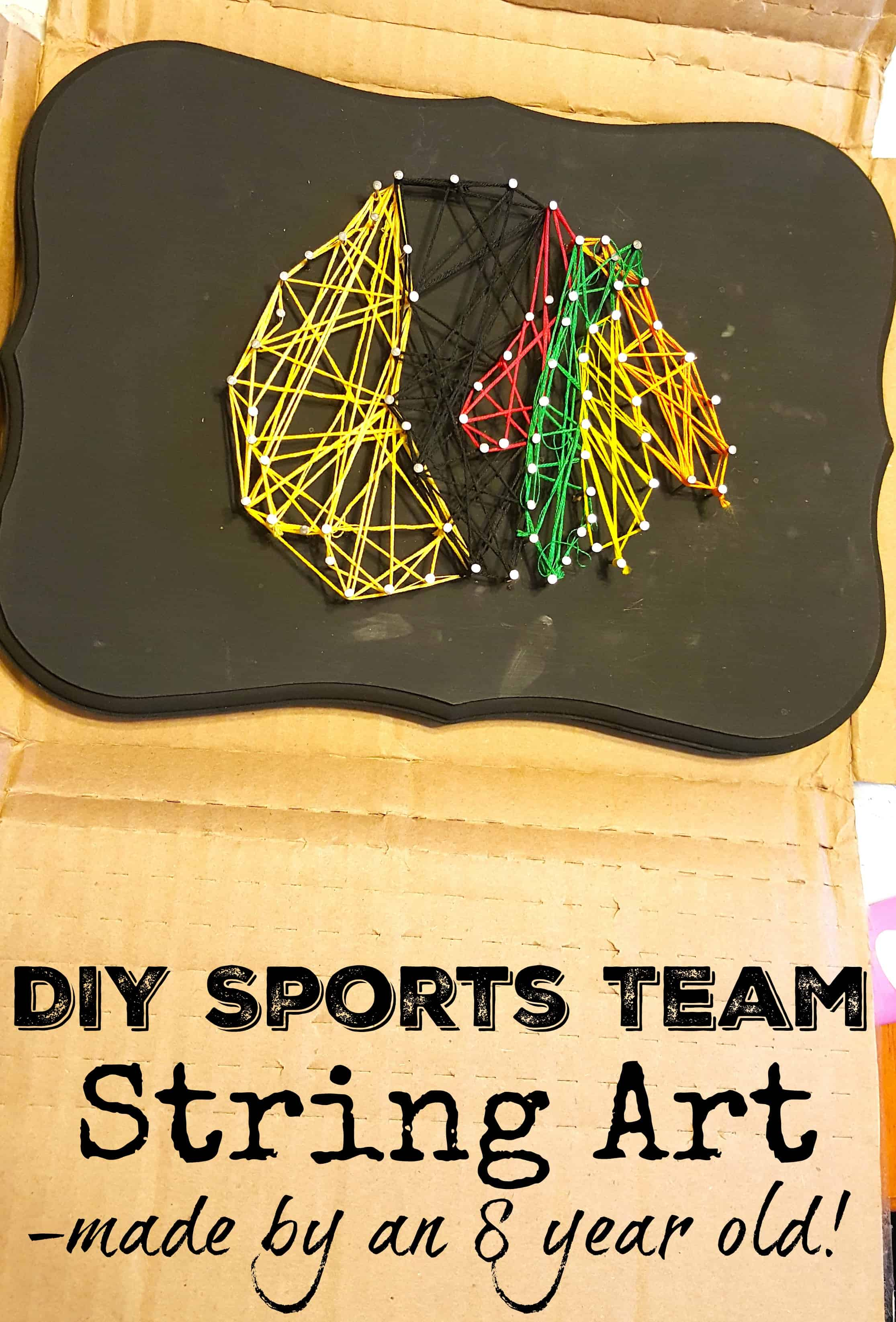 DIY Sports Team String Art Craft Chicago Blackhawks