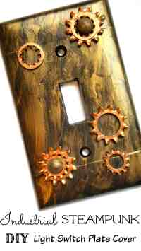 Industrial Steampunk Light Switch Plate Cover DIY Home ...