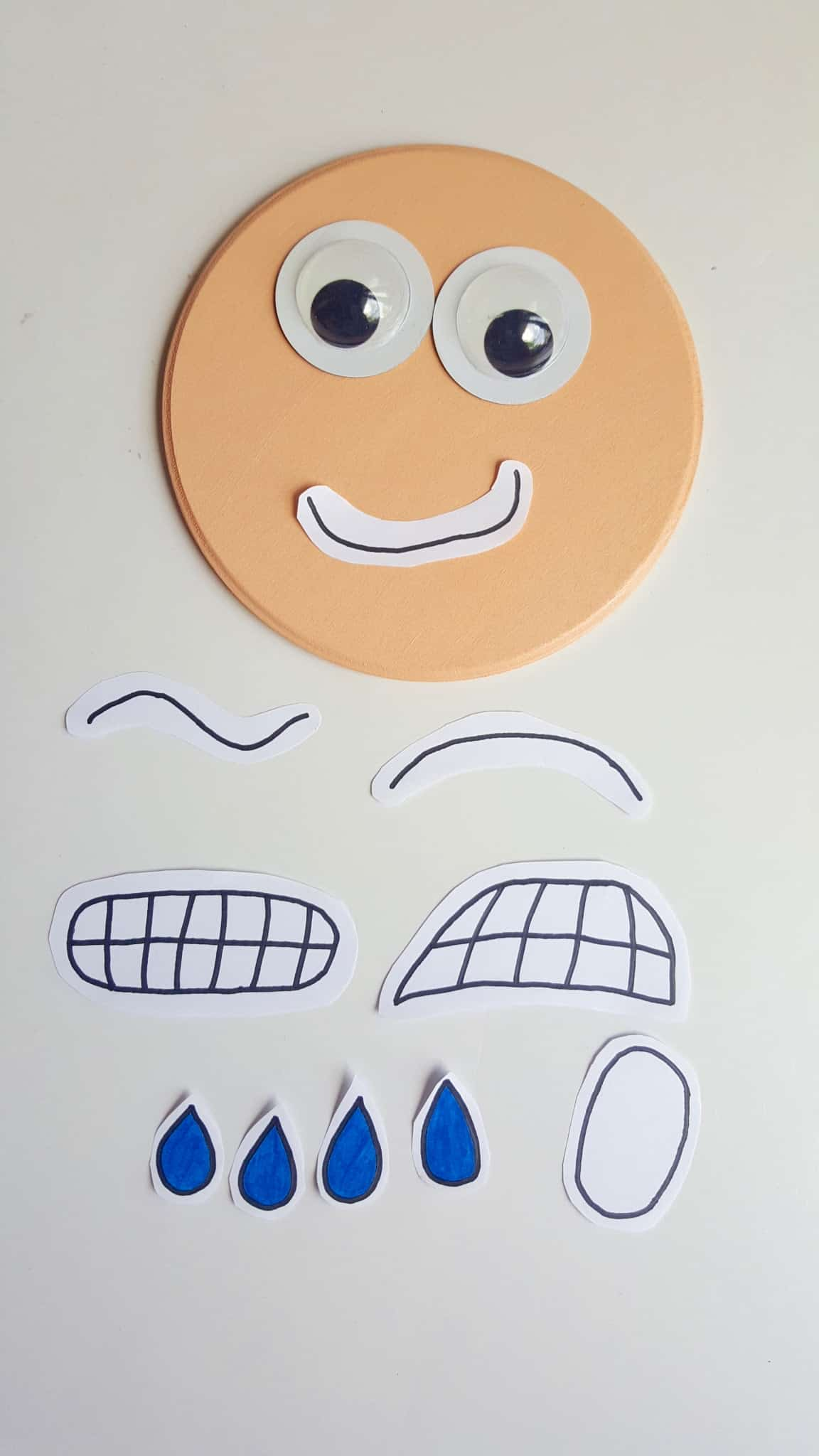 Interactive Printable Emotions Face