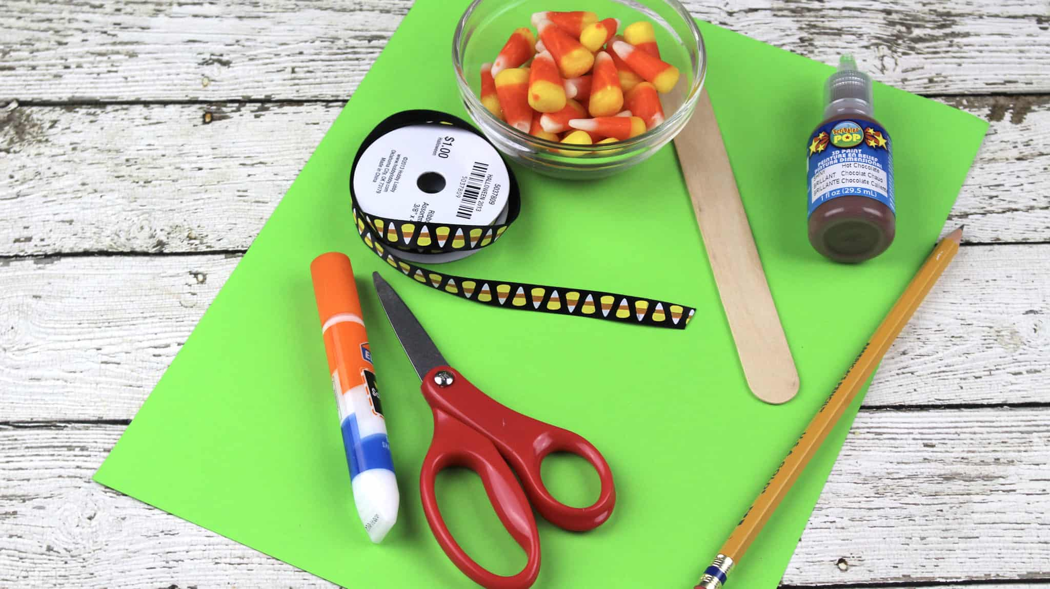 Easy Candy Apple Fall Craft For Kids
