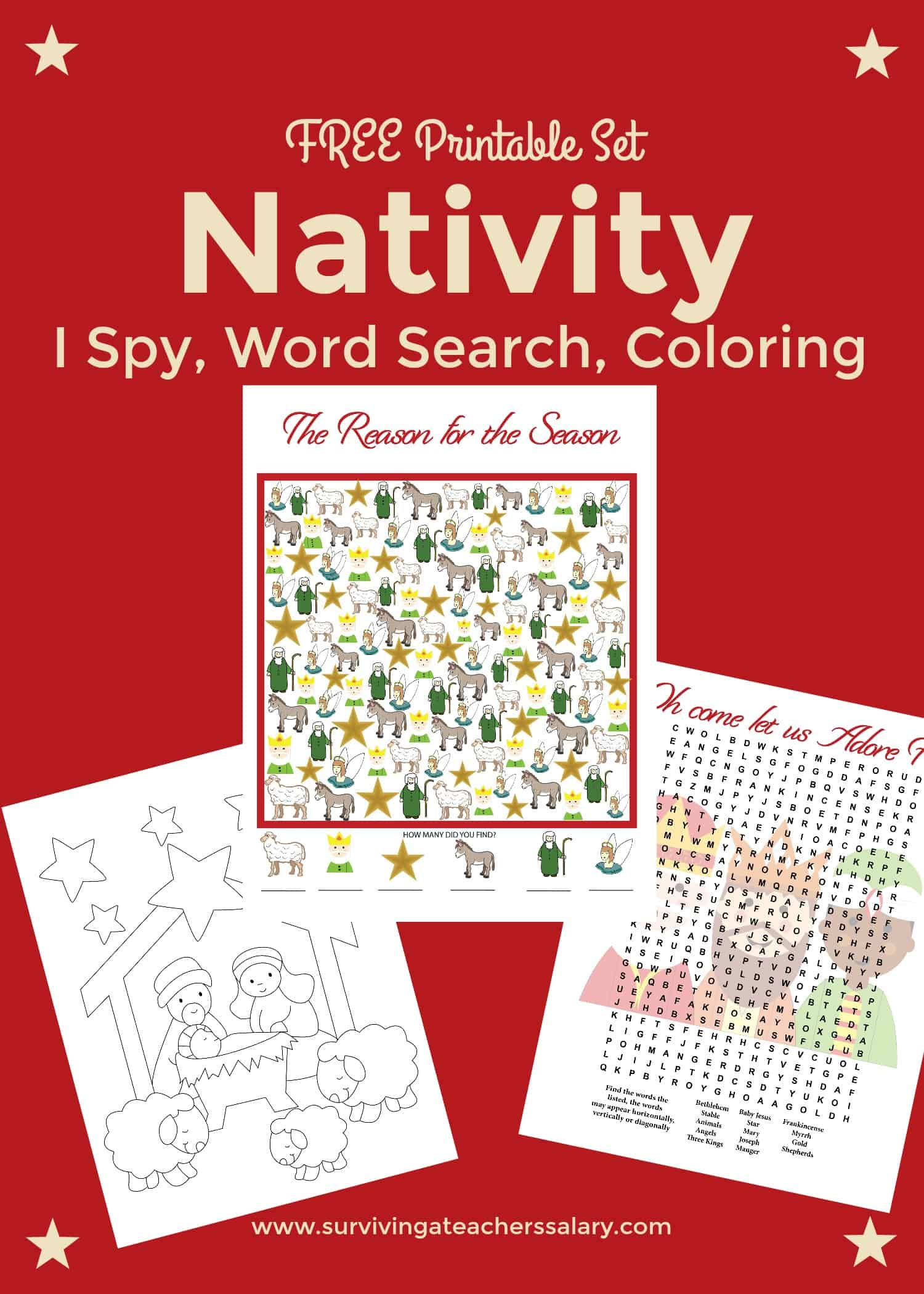 Free Nativity Printable Worksheets Amp Coloring Pages