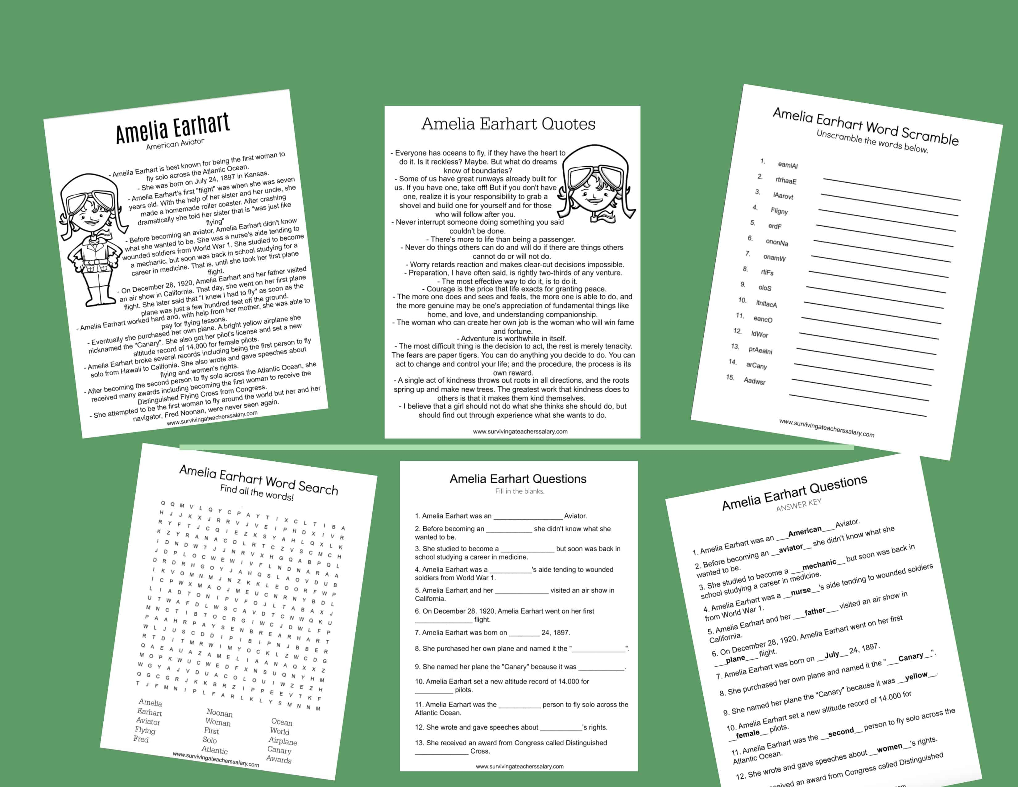 All About Amelia Earhart Worksheets Amp Activities For Kids