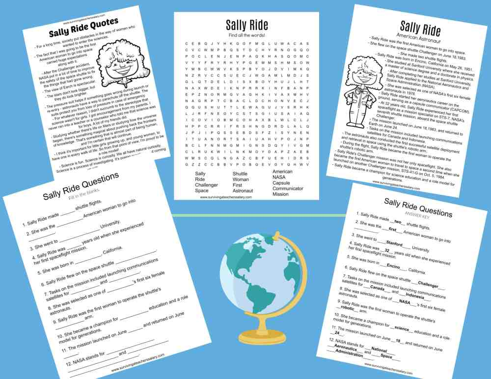 medium resolution of All About Sally Ride Worksheets \u0026 Activities for Kids