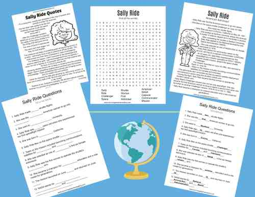 small resolution of All About Sally Ride Worksheets \u0026 Activities for Kids
