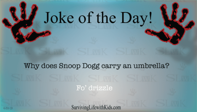 Daily Joke: Why Does Snoop Dogg Carry An Umbrella