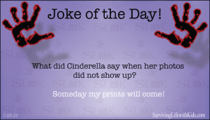 What did Cinderella say when her photos did not show up?