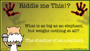 What is as Big as an Elephant, but Weighs Nothing at All?