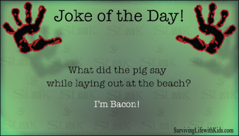 What Did The Pig Say While Laying Out At The Beach?