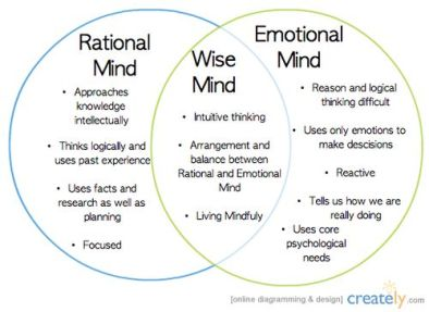 emotional-rational-wise-mind-300x218 Emotional Mind can talk us into virtually anything.