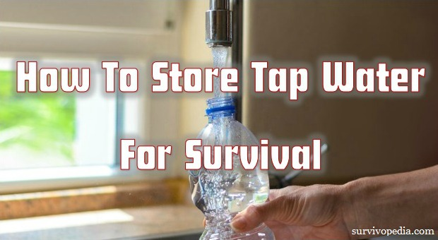 How To Store Tap Water For Survival