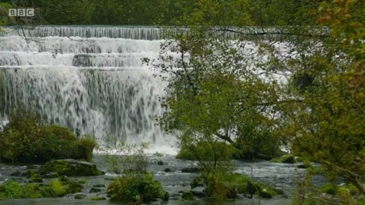 Mortimer & Whitehouse: Gone Fishing - the Weir in the Monsal valley